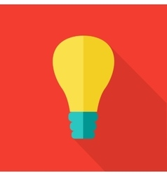 Bulb Icon in Flat Style Design vector image