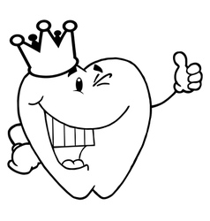 Caroon tooth vector
