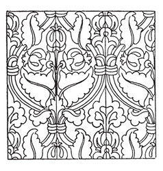 carpet pattern is a german renaissance design vector image