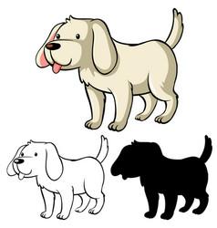 children dog coloring worksheet vector image