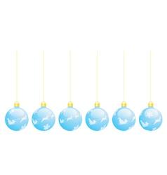 Christmas tree balls vector image