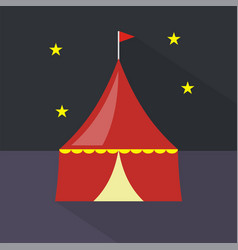 circus tent icon set of great flat icons design vector image