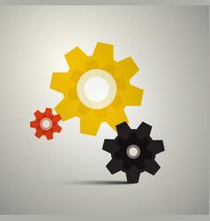 cogs gears cog icon gear symbol vector image