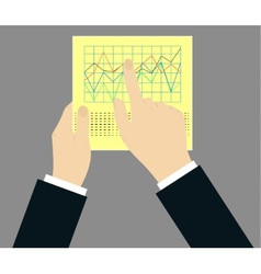 concept - schedule on paper with hands vector image