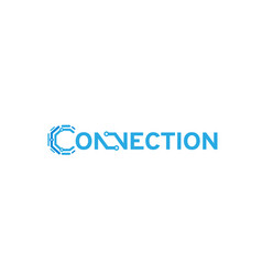 connection typography logo vector image