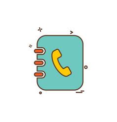 contact list icon design vector image