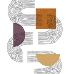 Contemporary with aesthetic hand drawn abstract vector