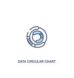 Data circular chart concept 2 colored icon simple vector