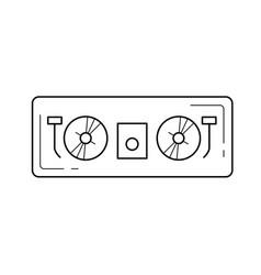 dj controller line icon vector image