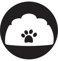 dog bowl icon vector image