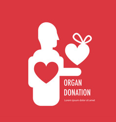 donate organ banner vector image