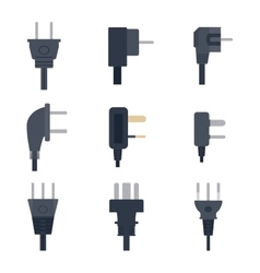 Electrical outlet plug vector image