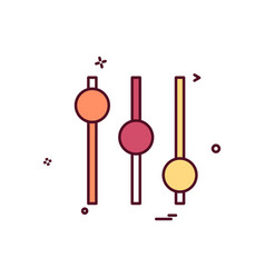 equalizer icon design vector image