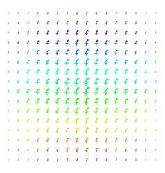 Falling airplane shape halftone spectrum pattern vector