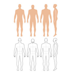 fashion man figure vector image