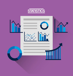 financial statistics corporate document business vector image