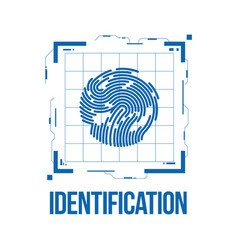 Finger scan in futuristic style biometric id with vector
