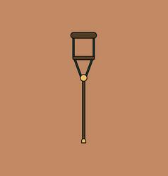 Flat icon design collection crutch vector