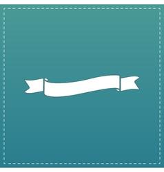 Flat ribbon icon vector