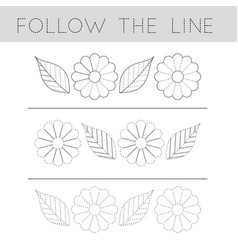follow line - flower file vector image
