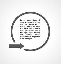 Gray arrow and circle vector