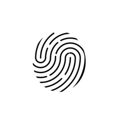 identification symbol fingerprint icon vector image