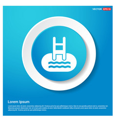 Indoors swimming pool icon vector