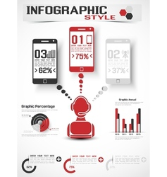Infographic modern style mobile vector