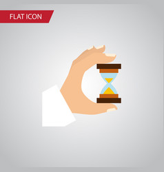 Isolated measurement flat icon sandglass vector