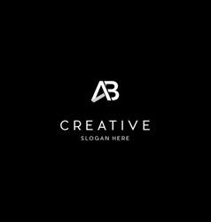 Letter ab creative business logo design graphic vector