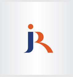 letter j and r jr combination logo icon logotype vector image