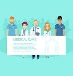 medical template for advertising brochure with vector image