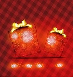 merry christmas box vector image