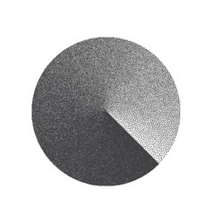 minimal stippled circle shape vector image