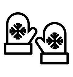mittens line icon gloves vector image