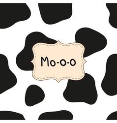 Mo-o-o background vector image