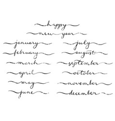 months of the year set vector image
