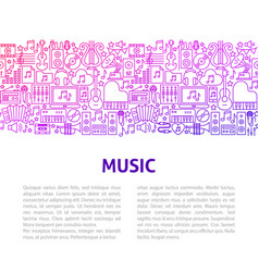music line design template vector image