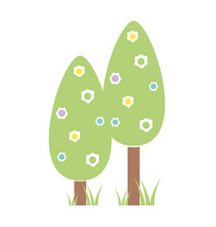 natural trees with branches to ecology care vector image