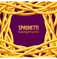 Oily spaghetti frame vector