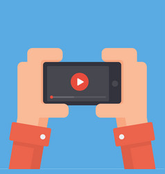 Online video on phone vector