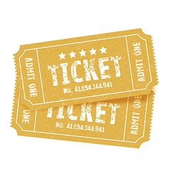 Pair of tickets red vector