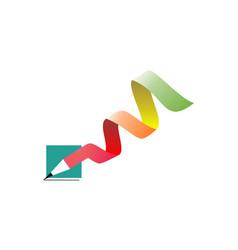 pencil writing concept logo vector image