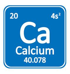 Periodic table element calcium icon vector