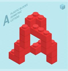 Plastic blocs letter a vector