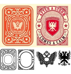 Premium Quality Cards set Baroque ornaments and vector image