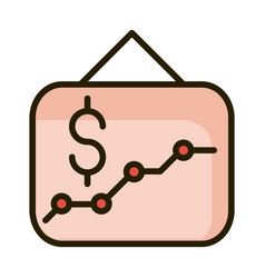 Presentation graph report financial business stock vector