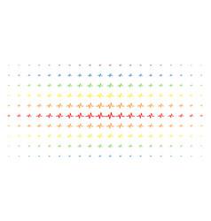 pulse spectral halftone pattern vector image