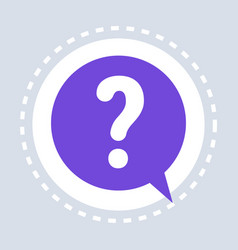 question mark help speech chat bubble symbol vector image