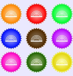 Rainbow icon sign Big set of colorful diverse vector